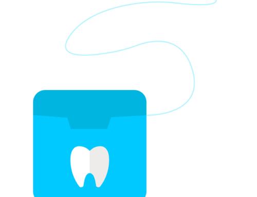Flossing to ensure gum health